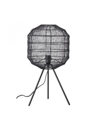 Lampe de table, noir, métal