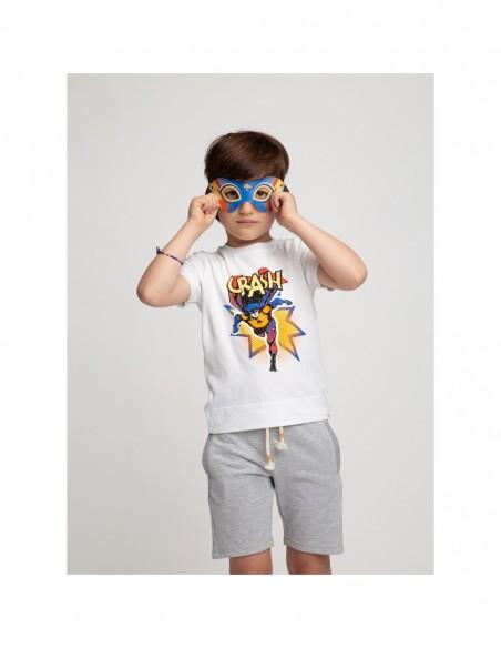 T-shirt + lunettes super-héros