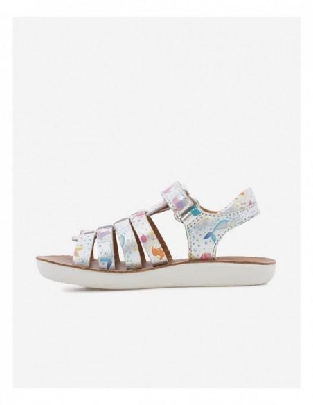 Chaussure Goa Spart Cuir Imprimé Argent Multicolore