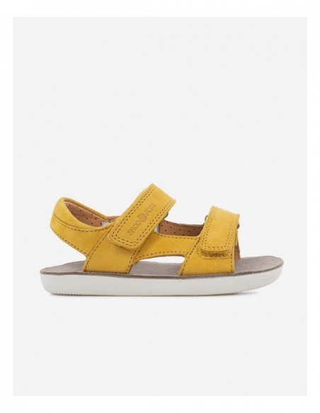 Chaussure Goa Boy Scratch Cuir Nubuck Ocre