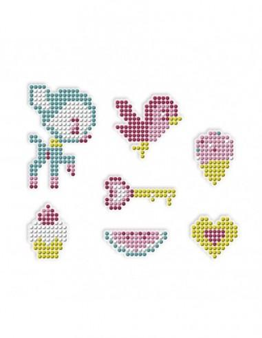 Kit Créatif - Pixel Strass Stickers