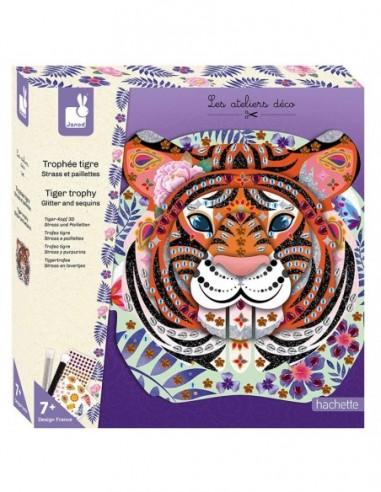 Set créatif Tigre à paillettes et sequins