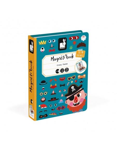 Magnéti'book Crazy Faces garçon, 70 magnets