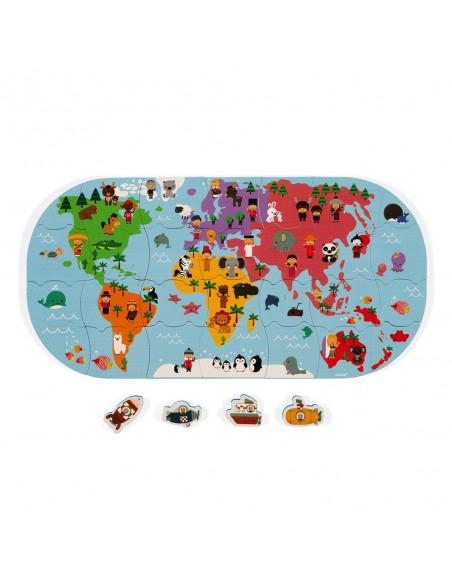 Puzzle Carte des Explorateurs du bain