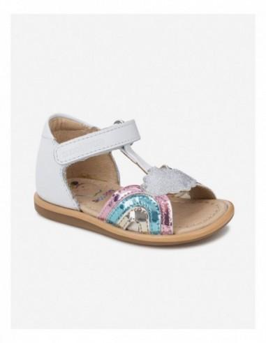 Chaussure TITY RAINBOW Blanc Multi color Metal