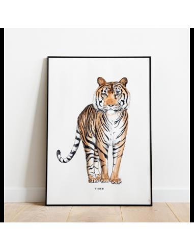 Poster Tigre 30x40 cm de MEESIE BINTJE