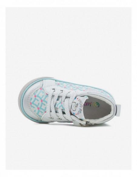 Chaussure  Zip Basket imprimée ART BLUE GLOW/SILVER
