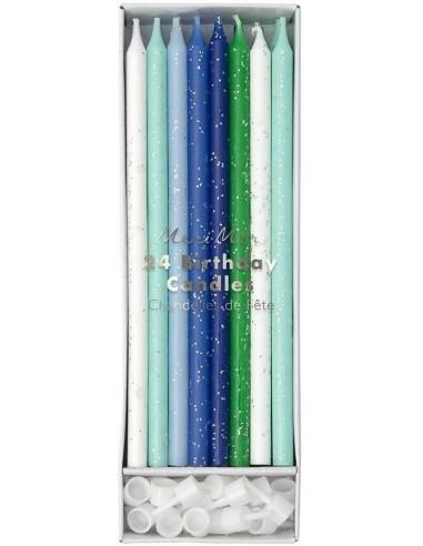 24 bougies bleues
