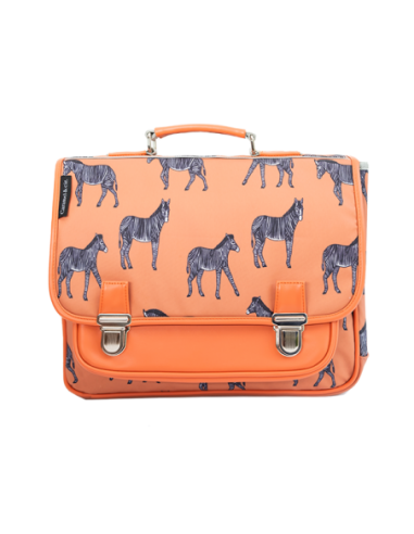 Cartable Moyen Zèbres Orange