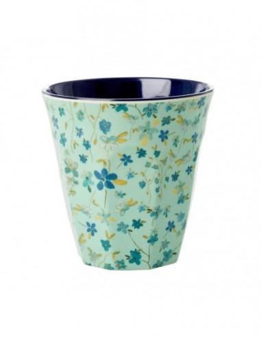 Gobelet en mélamine, imprimé « Blue Floral »