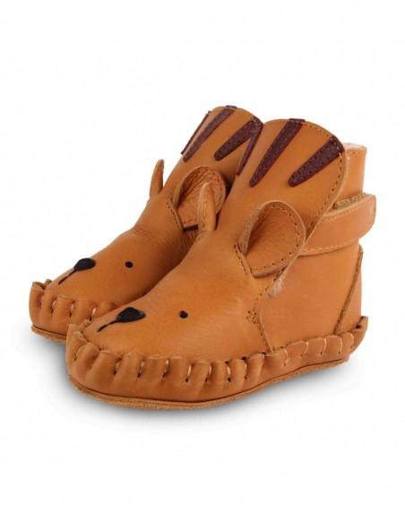Chausson cuir TIGRE couleur camel