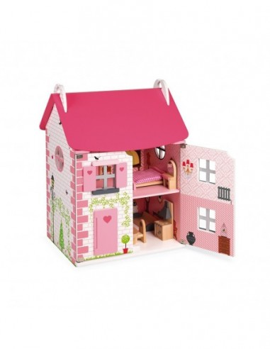 Maison de poupées Mademoiselle (bois)