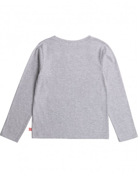Tee Shirt Gris chiné imprimé Guépard
