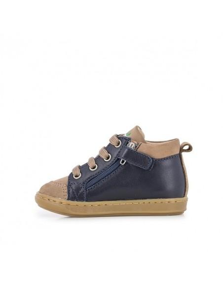 Chaussure Bouba Bi Zip - Camel Marine Nubuck