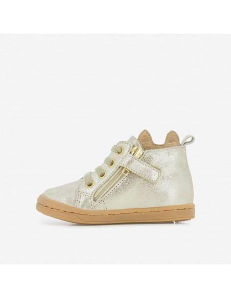 Chaussure Kikki Wou Cuir Velours Off White