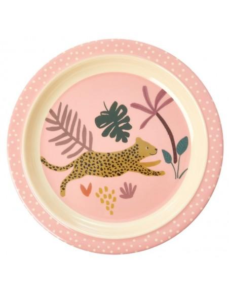 Assiette enfant en mélamine, imprimé « Jungle»