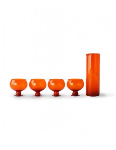 Set verre et  carafe Orange Funcky