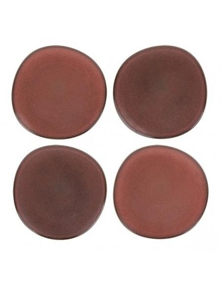 Assiette à dîner collection bold & basic ceramics couleur terra