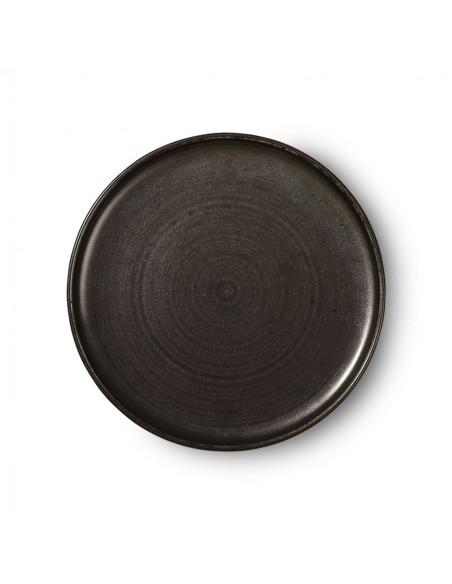 Assiette à dîner céramique collection home chef coloris rustic black