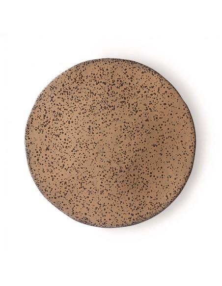Assiette à dîner Céramique mouchetée Taupe - 29cms