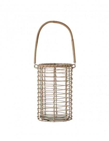 Lantern en canne et verre