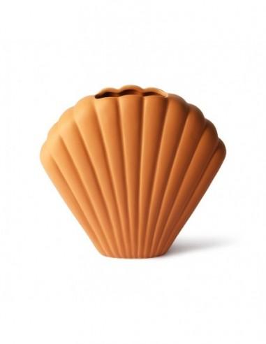 Vase coquillage en céramique terra