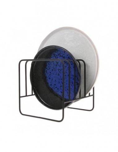 Porte assiette en métal noir