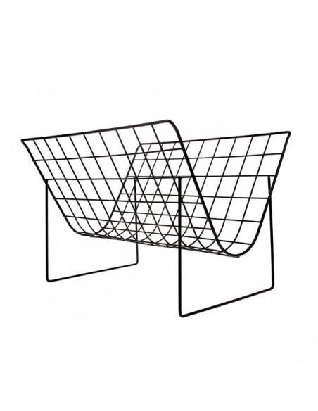 Porte-revue en fil métallique noir