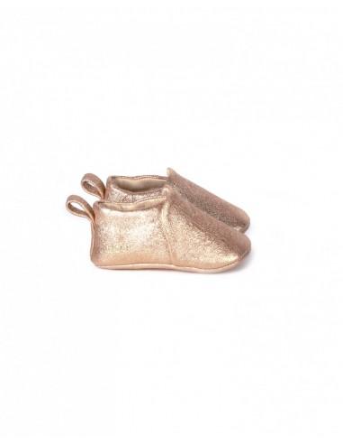 Chausson cuir coloris métallisé...