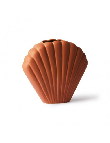 Vase coquillage en céramique Marron...